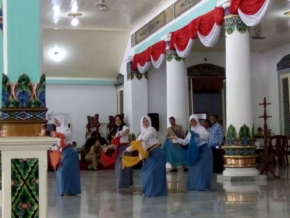 gladi bersih acara penyambutan petinggi TNI JATIM di Pendopo Kab. Madiun