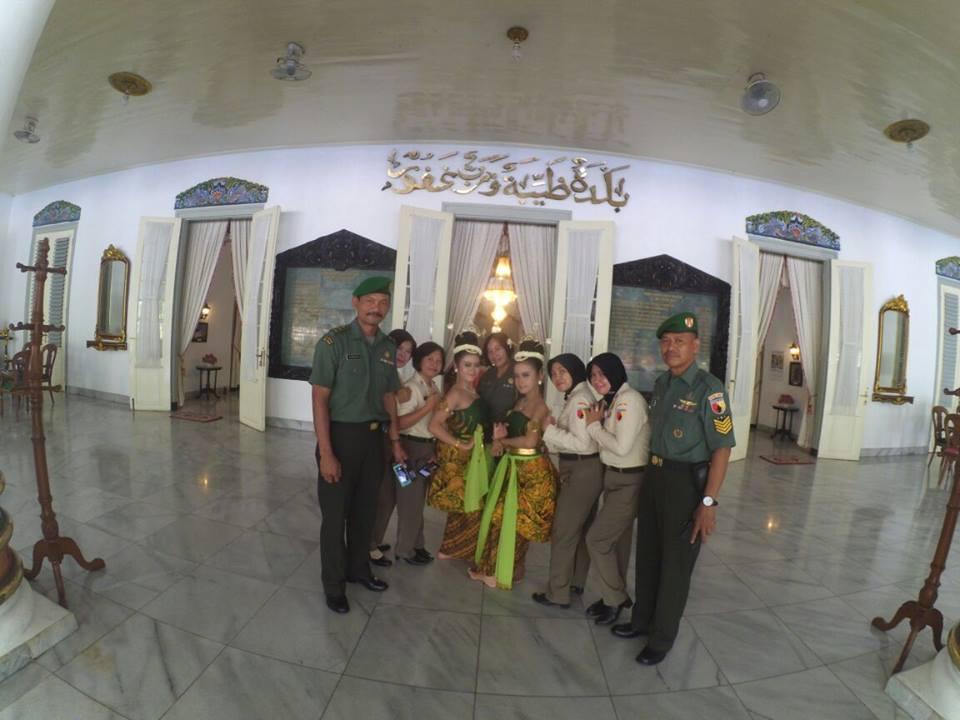 acara penyambutan petinggi TNI JATIM di Pendopo Kab. Madiun